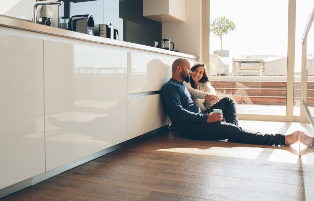 Couple just bought their own house